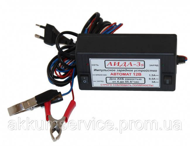 """Автоматичний зарядний пристрій """"АЇДА 3s""""для АКБ 4-55А*год"""