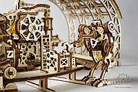 Деревянный механический конструктор в виде 3Д пазлов «Фабрика роботов», фото 1