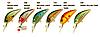 Воблер Nomura Okaido Crank  40мм 3гр. цвет-066 (MAT ORANGE TIGER)