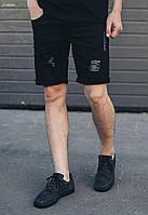 Мужские джинсовые черные шорты Staff black Destroy
