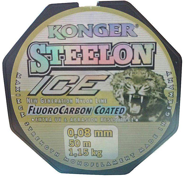 Леска Konger Steelon 50m. Диаметр 0,08мм