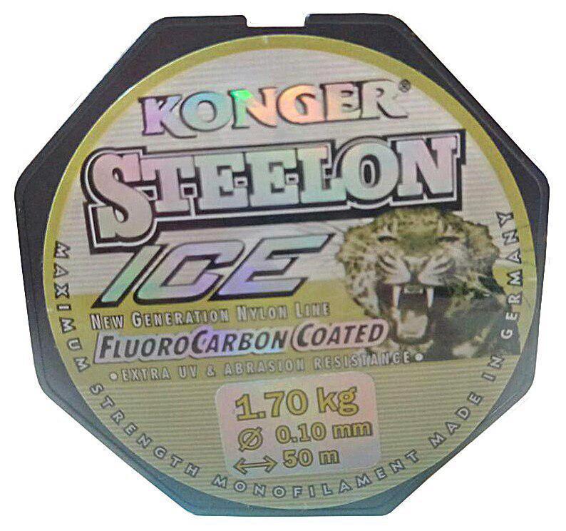 Леска Konger Steelon 50m. Диаметр 0,10мм