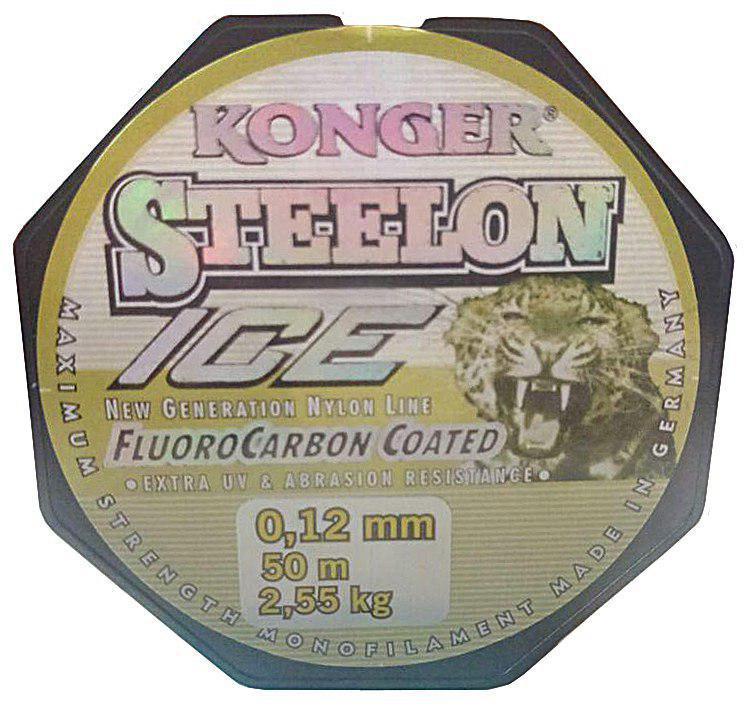 Леска Konger Steelon 50m. Диаметр 0,12мм
