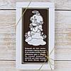 """Шоколадная открытка """" Каждый из на ангел... """" классическое сырье. Размер: 180х120х5мм, вес 90г"""
