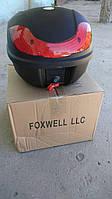 Кофр для мотоцикла (багажник) FXW HF-816 (430*410*320мм) (чёрный мат)