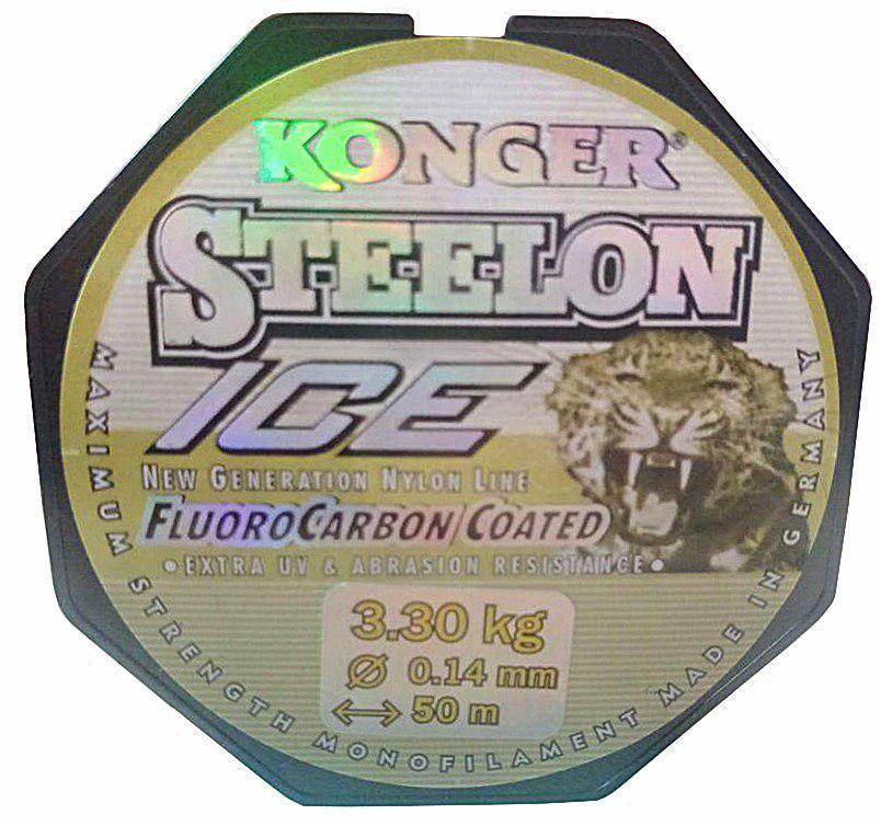 Леска Konger Steelon 50m. Диаметр 0,14мм