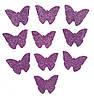 Сиреневые бабочки с глиттером (блестками) аппликации из фоамирана Латекса заготовки 3.8 см 10 шт/уп