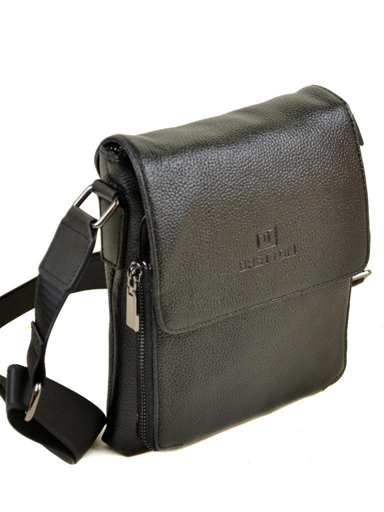Мужская сумка планшет через плечо кожа BRETTON 505-1 black