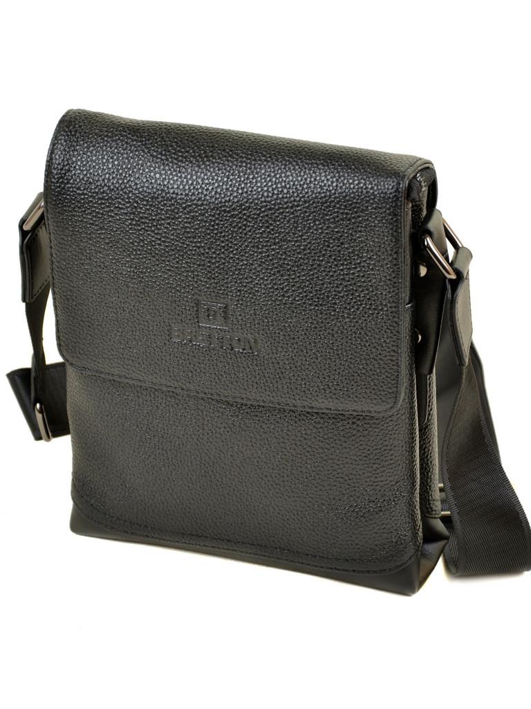Мужская сумка планшет через плечо кожа BRETTON 508-1 black