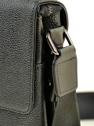 Мужская сумка планшет через плечо кожа BRETTON 508-1 black, фото 2