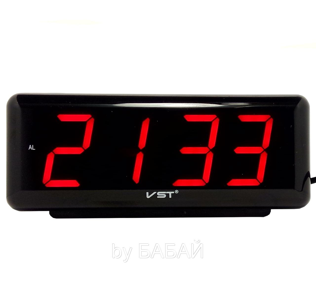 Часы электрические VST-762 красные