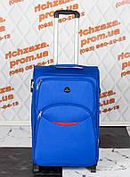 Средний удобный светло-синего цвета чемодан Wings