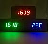 Часы с синим индикатором от батареек, фото 2