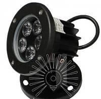 Світильник LED садовий світлодіодний 5LED 5W 6500K чорний / LM979