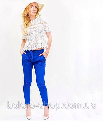 Женские брюки котон Ake Италия, фото 2