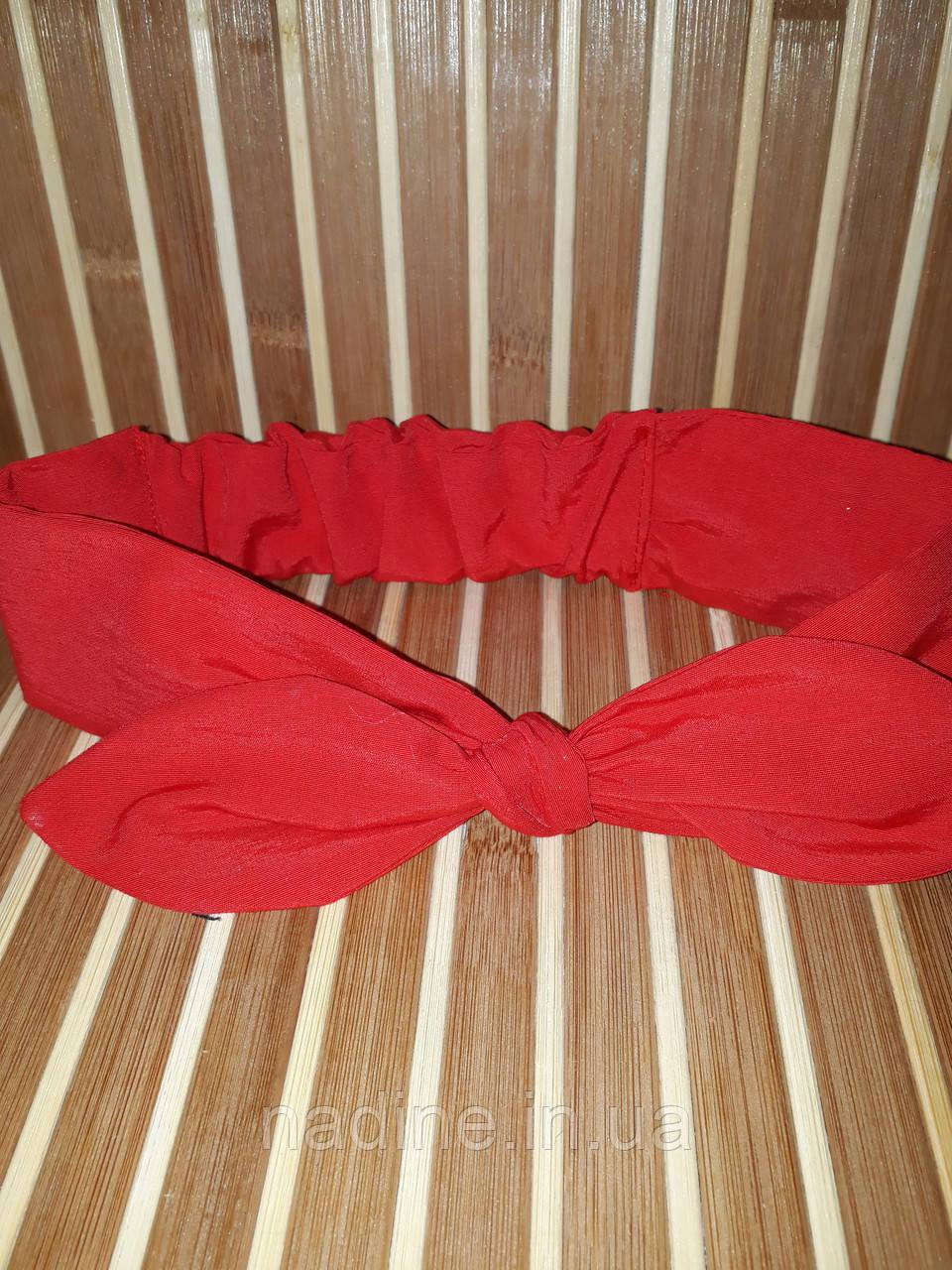 Солоха, повязка на голову Nadine, красная
