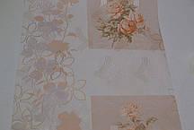 Обои, обои на стену,цветы, светлый, крупный рисунок, акрил на бумажной основе, B76,4 Корсика 7094-02, 0,53*10м, фото 3