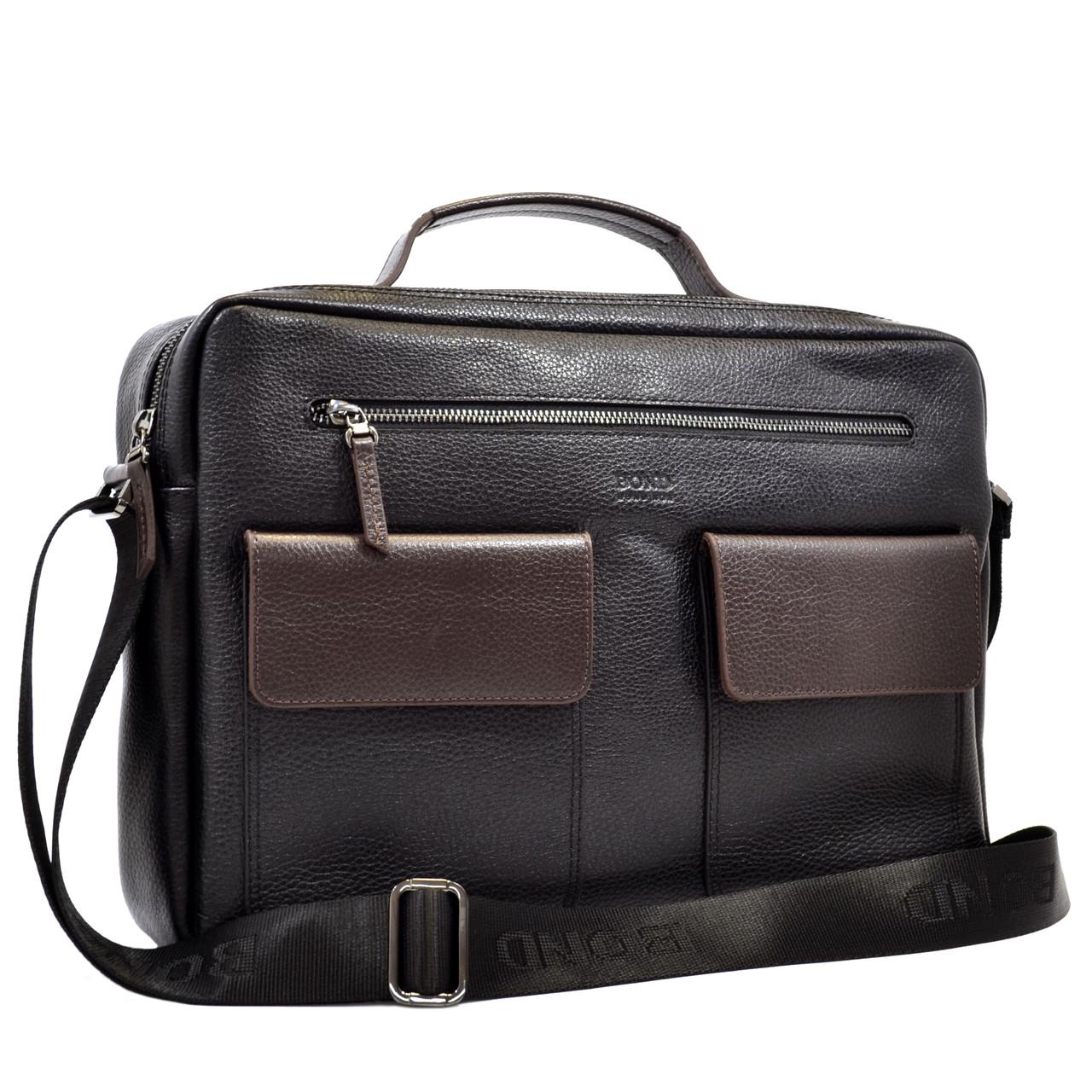 Мужской портфель–сумка Bond из натуральной кожи