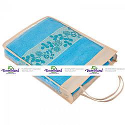 """Набор полотенец """"Азалия"""" в подарочной упаковке (арт.набор Азалия в подарочной упаковке) - Бирюзовий"""