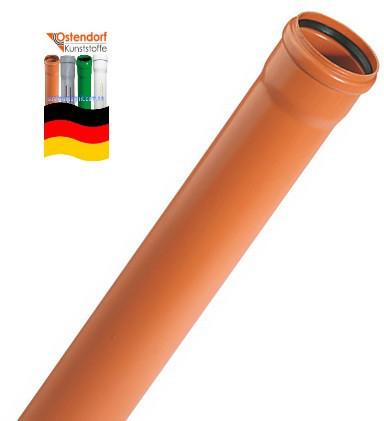 160 х 1000  х 4 мм OSTENDORF труба канализационная SN 4 для наружной к