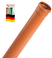 200 х 4,9 х 2000 мм OSTENDORF труба канализационная SN 4 для наружной канализации  из ПВХ (Германия)