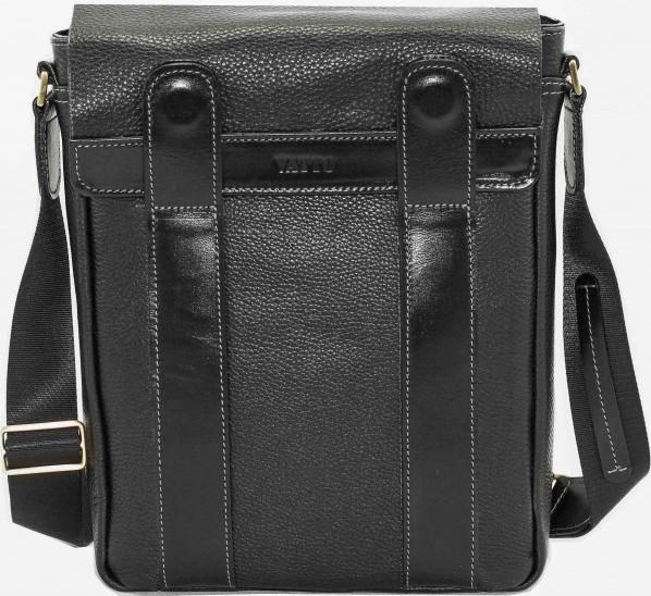 Мужская сумка из натуральной кожи VATTO Mk28.3 F8Kaz1, компактная, черный