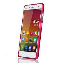 Чехол бампер Arc Edges металл для Xiaomi Mi4 малиновый