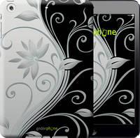 """Чехол на iPad mini Цветы на чёрно-белом фоне """"840c-27-11800"""""""