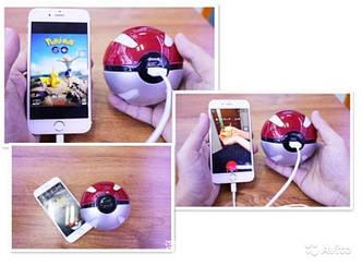 Павербанк Покебол внешний аккумулятор Power Bank (Покешар, Pokeball) 10000 mah для фанатов игры Pokemon Go , фото 2