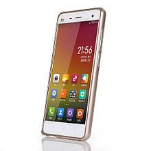 Чехол бампер Arc Edges металл для Xiaomi Mi4 золотой