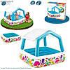 Детский надувной бассейн Intex 57470 со сьемной крышей, бассейны для детей, детские игровые центры
