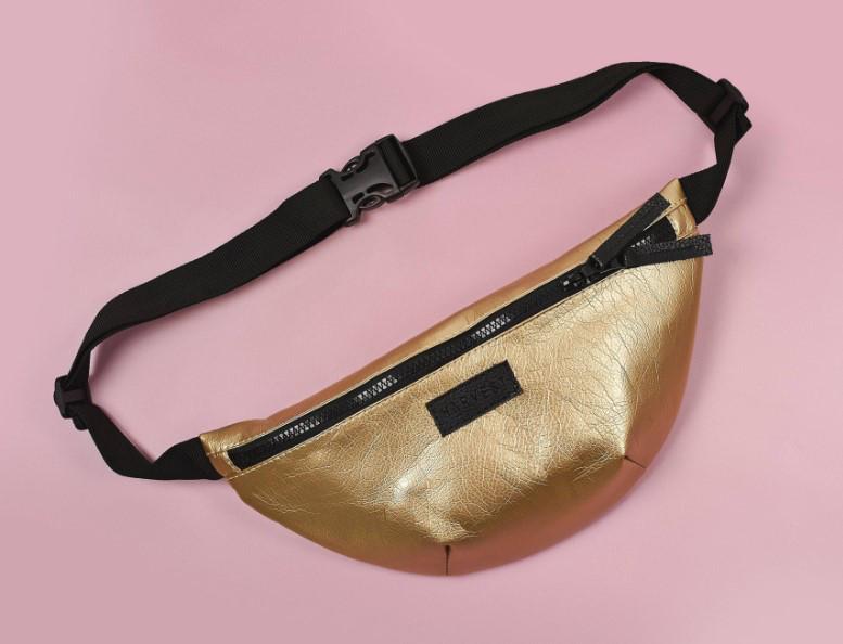Поясная сумка бананка золотистая BG Gold HARVEST (банан, сумка на пояс