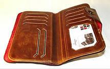 Кошелек мужской бумажник визитница Bailini длинный с ковбоем без вырезов, фото 2