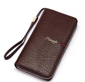 Мужской стильный портмоне клатч  PIDANLU TOP коричневого цвета, фото 2