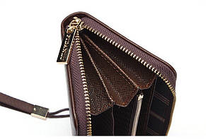 Мужской стильный портмоне клатч  PIDANLU TOP синего цвета, фото 2