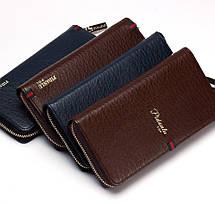 Мужской стильный портмоне клатч  PIDANLU PDL коричневого цвета, фото 2