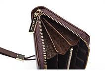 Мужской стильный портмоне клатч  PIDANLU PDL синего цвета, фото 3