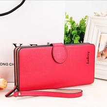 Женский стильный клатч портмоне  Baellerry Italia красного цвета