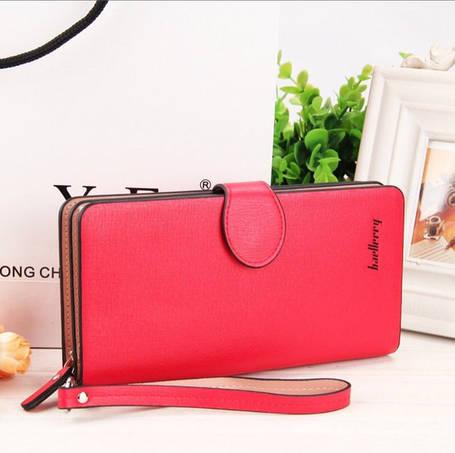 Женский стильный клатч портмоне  Baellerry Italia красного цвета, фото 2