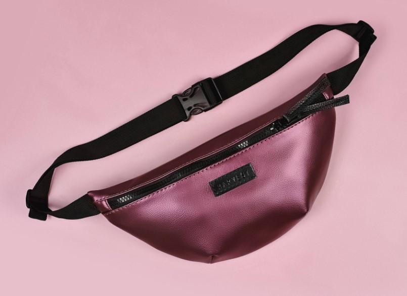 967f40014c46 Поясная сумка бананка вишневая BG CHERY HARVEST (банан, сумка на пояс,  жіноча сумка