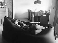 Самонадувной диван - гамак Lamzac Hangout (Кресло Матрас Ламзак Хенгаут Черный), фото 3