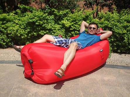 Самонадувной диван Lamzac Hangout (Кресло Матрас Ламзак Хенгаут Красный), фото 2
