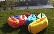 Самонадувной диван - шезлонг Lamzac Hangout (Кресло Матрас Ламзак Хенгаут бордовый высочайшего качества), фото 2