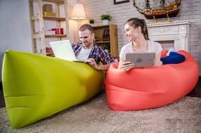 Самонадувной диван - шезлонг Lamzac Hangout (Кресло Матрас Ламзак Хенгаут Хаки (Олива) высочайшего качества), фото 2
