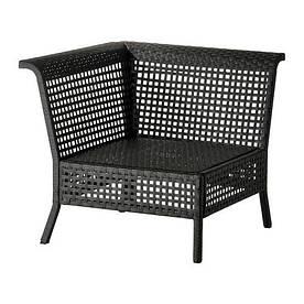 IKEA, KUNGSHOLMEN, Садовая угловая секция, черно-коричневый (10267046)(102.670.46) КУНГШОЛМЕН ИКЕА