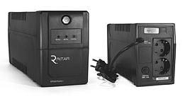 ИБП Ritar RTP600 (360W) Proxima-L ЛЕД AVR 2st 2xSCHUKO socket 1x12V7Ah plastik Case Черный