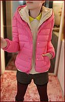 Женская куртка осень, весна розовый цвет