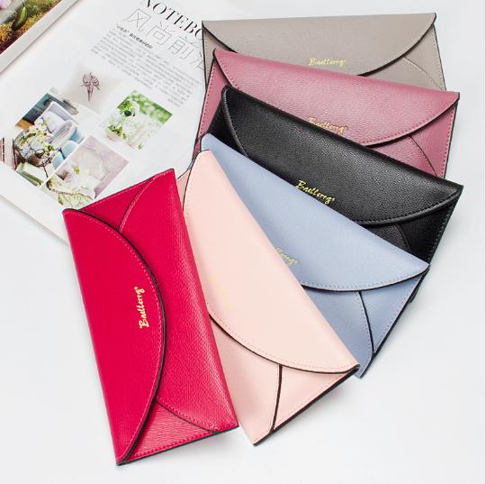 Ультратонкий женский кошелек клатч Baellerry разных цветов