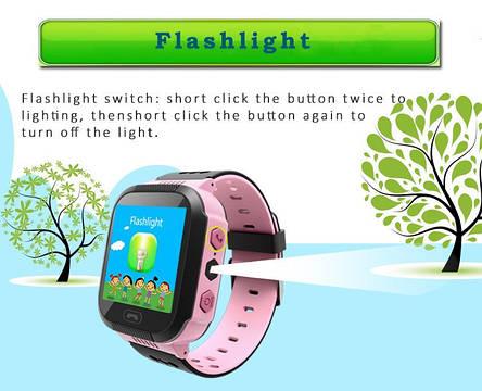 Детские умные часы телефон трекер Smart Baby Watch Q528 c сенсорным цветным экраном и фонариком (розовые), фото 2