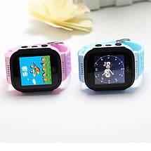 Детские умные часы телефон трекер Smart Baby Watch Q528 c сенсорным цветным экраном и фонариком (розовые), фото 3